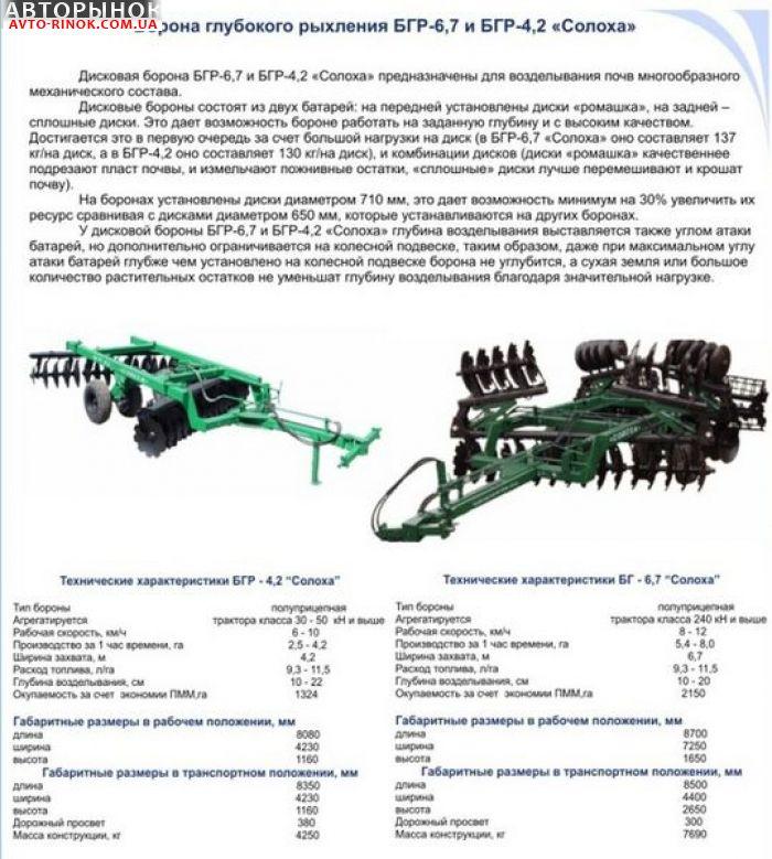 Авторынок   Продажа 2012 Трактор МТЗ-82 Дискова борона БГР-6,7 «Солоха»